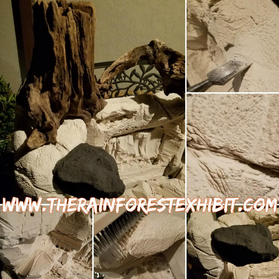 Montage of the high density foam  provided by DUNAUSA to The Rainforest Exhibit.
