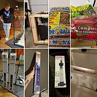 Montage of many of the supplies for The Rainforest Exhibit provided by Custom Aquariums, including the LARGEST AMPHIBIOUS AQUARIUM they have ever...