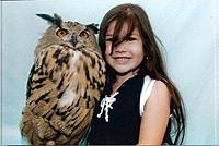 Granddaughter with owl