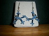 Beaded Frog Earrings